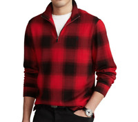 POLO RALPH LAUREN Men's Checked Plaid Estate-Rib Cotton Pullover Sweater NWT