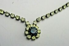 Rhinestone Vintage Estate Necklace High End Beautiful Blue