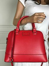 NWT Kate Spade Sexy Red Wellesley Leather Satchel Shoulder Crossbody Bag Purse