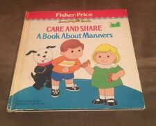 Fisher Price Little People Books Care And Share A Book About Manners 1986