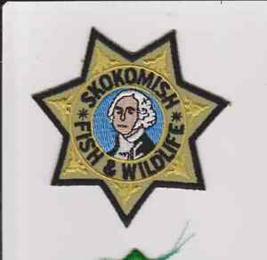 Washington Skokomish Fish & Wildlife Tribal Game Warden Police Patch