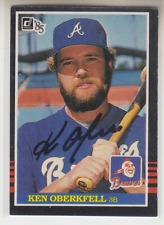 Autographed 1985 Donruss Ken Oberkfell - Braves