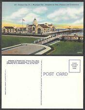 Old Linen Postcard - Ventnor City, New Jersey - Municipal Pier