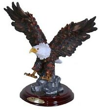 Two Eagles Flying on Blue Water Bird Statue / Animal Resin Figurine - RAI 94212