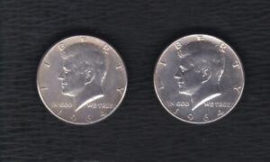 USA 1964 2 x Half Dollar 900er Silber Kennedy