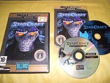 PC GAME-STARCRAFT + BROOD WAR EXPANSION-2 CD-Computer-Gioco-Games-FRANCESE-FR