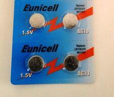 ENVOI AVEC SUIVI - Eunicell 4 Piles AG10 LR54  D389 D39 SR1131 SR54 SR1130SW