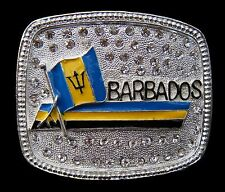 Barbados Rhinestone Flag Belt Buckle Island Coolbuckles Boucle de Ceinture