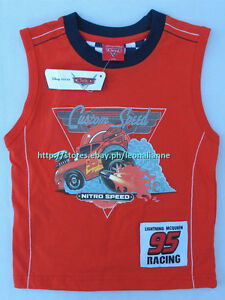 23% OFF! LICENSED DISNEY CARS BABY BOY'S TANK TOP 24 MONTHS BNWT PHP 259
