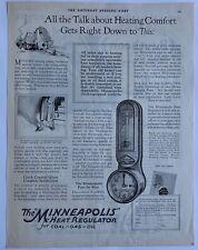 Vintage 1927 Minneapolis Heat Regulator Coal Gas Oil Print Ad