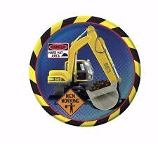 "Construction Truck Dessert Plates, Birthday Party Supplies, 7"" Excavator 10p Pk"