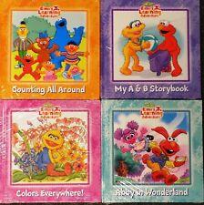4 - 123 Sesame Street Elmo's Learning Adventure Book Lot! Hardcover