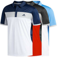 Adidas Golf Men's ClimaLite Blocked Polo Shirt NEW