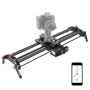 "Neewer Motorized Camera Slider, 40"" Carbon Fiber Track Dolly Rail Follow Focus"