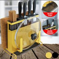 Cutting Board Holder Chopping Stand Rack Pan Pot Lid  Bar Shelf