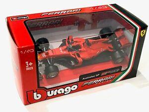 BBURAGO 1:43 2019 FERRARI FORMULA 1 F1 SF90 #5 Sebastian Vettel Model CAR Boxed
