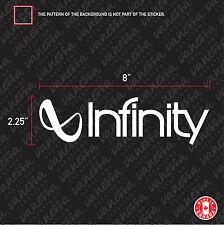 2X INFINITY AUDIO sticker vinyl decal white