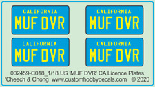 Car Licence Plates - 'MUF DVR' - Cheech and Chong Up in Smoke (1978)