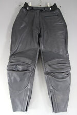CLASSIC IXS BLACK LEATHER BIKER TROUSERS: WAIST 28 INCHES/INSIDE LEG 27 INCHES