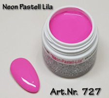 5 ml  UV Exclusiv Farbgel Pastell Neon Lila Gel Nr.727