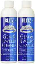 2 Pack BLITZ Concentrated Jewelry Cleaning Solution For Ultrasonic Cleaners 8 oz