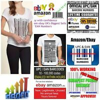 100 x EAN Barcode ebay amazon | GS1 Validated | ebay EAN Upc Codes Policy Update