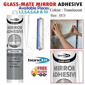 1-10pcs Bond It Glass-Mate Fast Set Super Strong Mirror Adhesive EU 310ml Clear