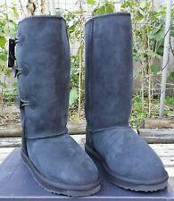 $249 NEW Womens EMU Australia Coombell Hi Boots Sheepskin BLACK size 10
