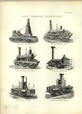 1893 Early American locomotives James Experiment MUD DIGGER crabe dessins