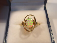 Opal Ring Ladies 14ct Yellow Gold Solid Opal Free Form .# 30096.