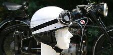 Halbschalenhelm mit Brille  Weiß NEU + Größe L+ Moped Motorrad Roller SR1 SR2