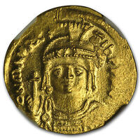 Maurice Tiberius Gold Solidus Coin Byzantine Constantinople Xf Coins & Paper Money 582-602 Ad