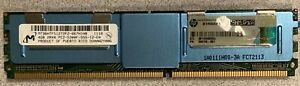 Lot of 2 Micron 4GB 2RX4 PC2-5300F-555-12 Server Memory MT36HTF51272FZ-667H1N8