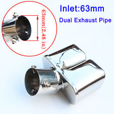 """63mm 2.5"""" Inlet Tail Pipe Exhaust Rear Muffler Tip Cover Trim Auto Accessories"""