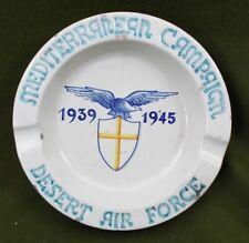 More details for 5060 a wwii mediterranean campaign desert air force souvenir ceramic ashtray