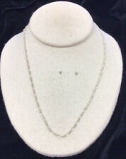 """Chain Necklace 19"""" Gg484 Vintage Sterling Silver 925 Figaro"""