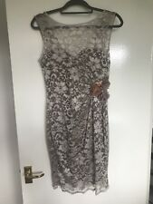 **STUNNING** JANE NORMAN SIZE 14 MOCHA LACE WIGGLE DRESS *FAST POSTAGE**