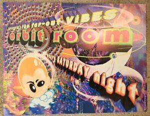 Vintage 1990s Rave Event Flyer Dj Jahred Michael De Grace Orbit Room Houston