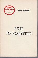 PEC - Jules Renard - POIL DE CAROTTE- Fiche de lecture