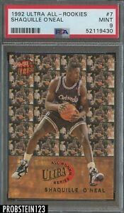 1992-93 Fleer Ultra All-Rookies #7 Shaquille O'Neal Magic RC Rookie HOF PSA 9