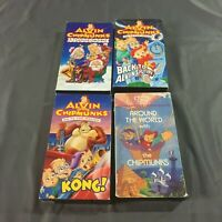 Lot of 4, Alvin & the Chipmunks VHS Tapes