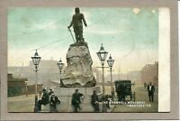 Postcard England Manchester Cromwell Monument St Scene Horse People c1915? -125