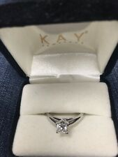 Leo diamond ring solitaire 1/2 carat preowned but looks perfect