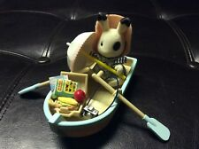 Calico Critters Sylvanian Families Rowing Boat & Accessories W/YVETTE BLACKBERRY