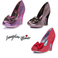 Irregular Choice Nick Of Time Women Glitter Miscellaneous Red Court Shoes