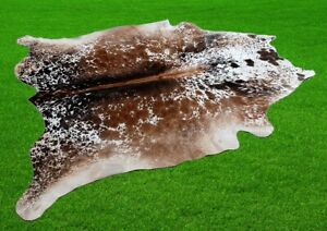 """New Cowhide Rugs Area Cow Skin Leather 24.57 sq.feet (61""""x58"""") Cow hide A-9113"""