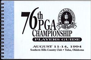 1994 PGA CHAMPIONSHIP GOLF Players MEDIA GUIDE  Southern Hills CC,Tulsa,Oklahoma