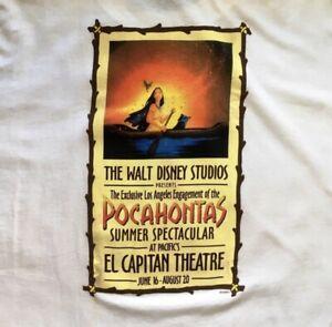 Vintage Disney Pocahontas Movie Promo Shirt Mens XL El Capitan Theatre Rare 90s