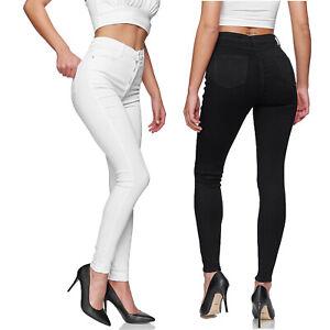 Gloop Damen Stretch Jeans Jeanshose Hose Skinny Fit Jegging Skinny high Waist