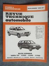 "REVUE TECHNIQUE ALFA ROMEO ""ALFA 33"" 1300 - 1500 - 1700"
